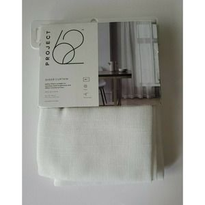 Project 62 White Open Weave Sheer Curtain Panel